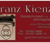 Goldschmied Kienzl - aus Wolfsberg