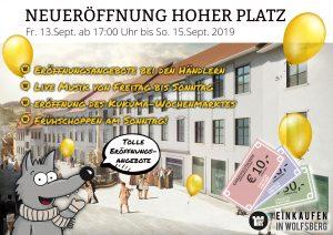 Der hohe Platz in Wolfsberg wird neu eröffnet!